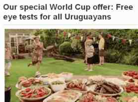 free eye test for-uruguayans advert