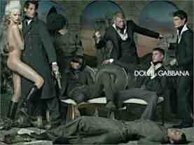dolce and gabba knives advert