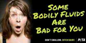 peta bodily fluids advert