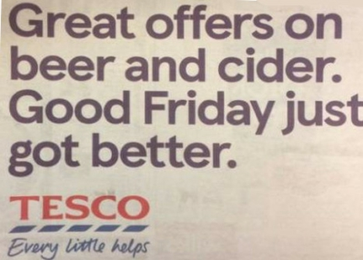 tesco good friday beer advert advert
