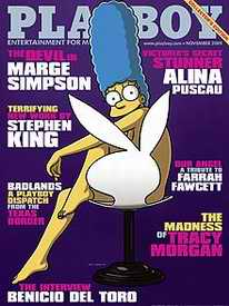 Playboy with Marge Simpson