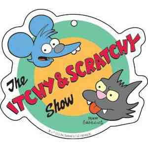 Simpsons Itchy Scratchy Automotive Freshener