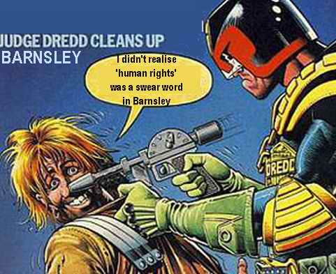 Judge Dredd in Barnsley