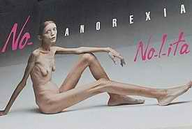 No Anorexia poster advert