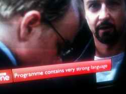 BBC1 strong language warning