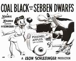 Coal Black and de sebben drawfs poster