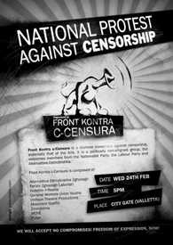 FRont against censorship poster