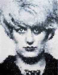Myra Hindley in hand prints