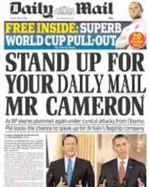daily mail cameron
