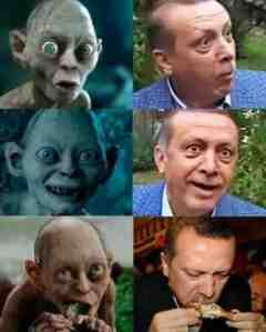 erdogan as gollum