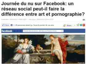 facebook nude protest