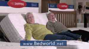 bedworld advert shit your bed video